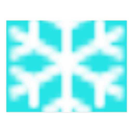 Copo de nieve azul grande postal