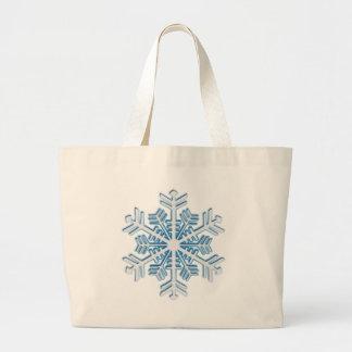 Copo de nieve azul helado clásico del navidad del  bolsa de mano