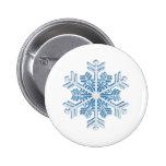 Copo de nieve azul helado clásico del navidad del  pin