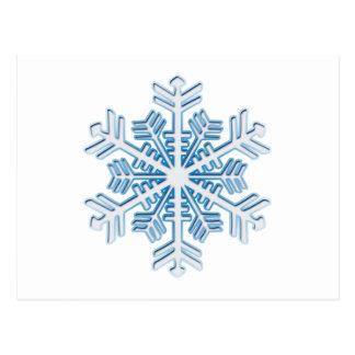 Copo de nieve azul helado clásico del navidad del  tarjetas postales