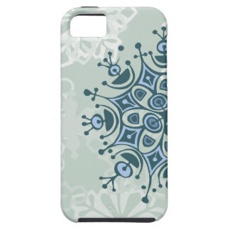 Copo de nieve azul iPhone 5 cárcasa