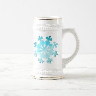 Copo de nieve azul jarra de cerveza