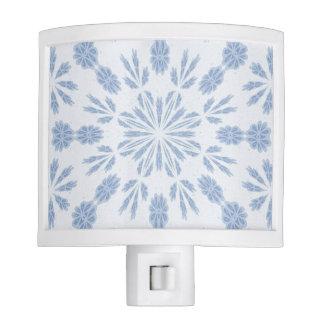 Copo de nieve azul lámparas de noche