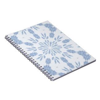 Copo de nieve azul libreta
