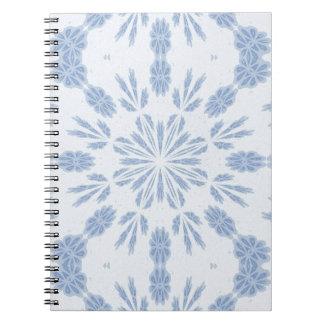 Copo de nieve azul libros de apuntes con espiral