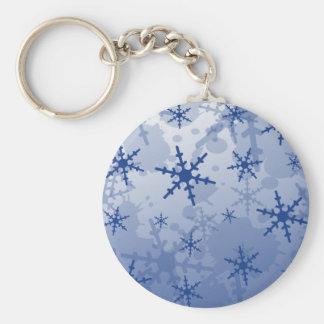 Copo de nieve azul llavero personalizado