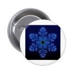Copo de nieve azul pin