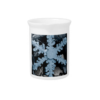 Copo de nieve azul jarra para bebida