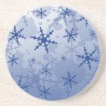 Copo de nieve azul posavasos personalizados