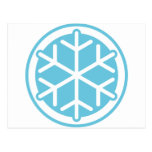 copo de nieve azul postal