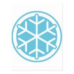 copo de nieve azul postales