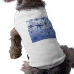 Copo de nieve azul ropa para mascota