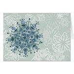 Copo de nieve azul tarjeton