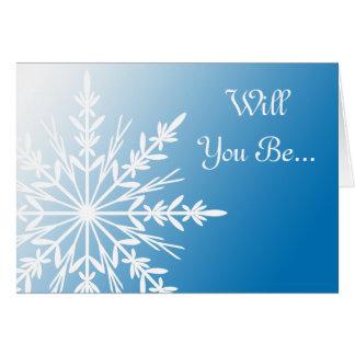 Copo de nieve azul usted será mi tarjeta de la dam