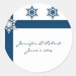 Copo de nieve azul y blanco pegatinas