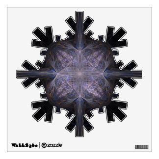 Copo de nieve azul y negro del arte del fractal