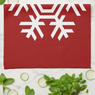 Copo de nieve blanco de la decoración estacional toallas