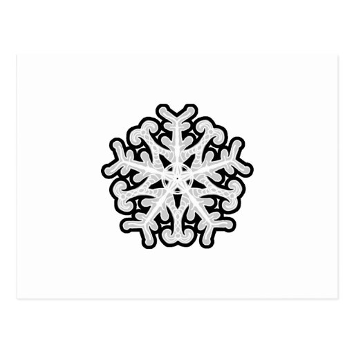 Copo de nieve blanco de la estrella postal