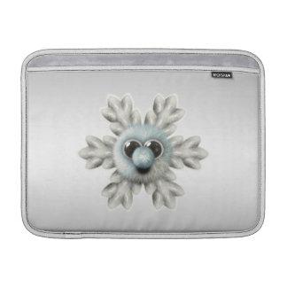 Copo de nieve borroso lindo fundas para macbook air