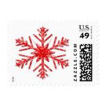 Copo de nieve brillante rojo de rubíes brillante sellos