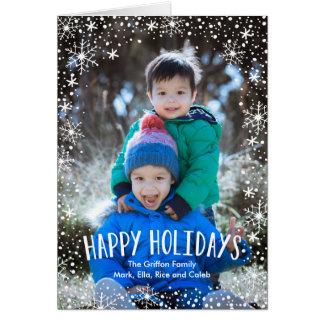 Copo de nieve buenas fiestas tarjeta de felicitación