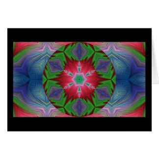 Copo de nieve caleidoscópico Card.2 del fractal Tarjeta De Felicitación