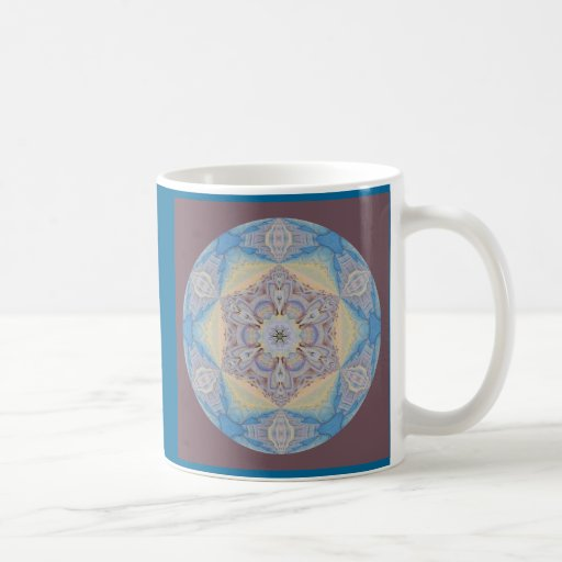 Copo de nieve caleidoscópico Mug.2 de la mandala Tazas De Café