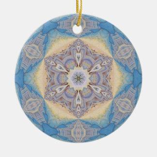 Copo de nieve caleidoscópico Ornament.8 Adorno Redondo De Cerámica