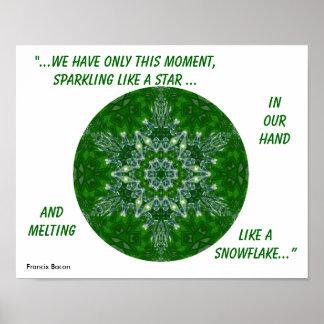 Copo de nieve caleidoscópico Poster.1 de la estrel