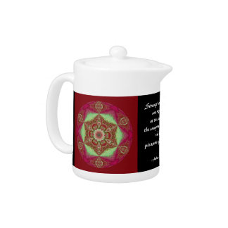 Copo de nieve caleidoscópico Teapot.2 de la mandal