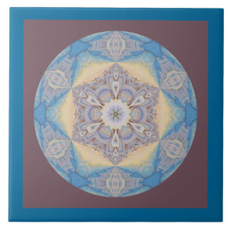 Copo de nieve caleidoscópico Tile.2 de la mandala Azulejo Cuadrado Grande