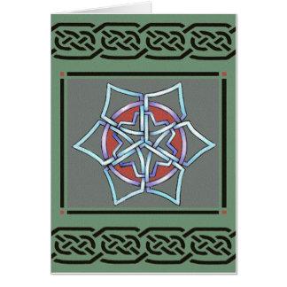 copo de nieve céltico de la tarjeta por el