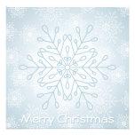 Copo de nieve Christmascard Invitaciones Personalizada