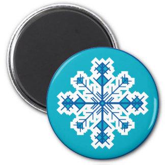 Copo de nieve circular imán redondo 5 cm