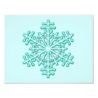Copo de nieve clásico del invierno del navidad invitacion personalizada