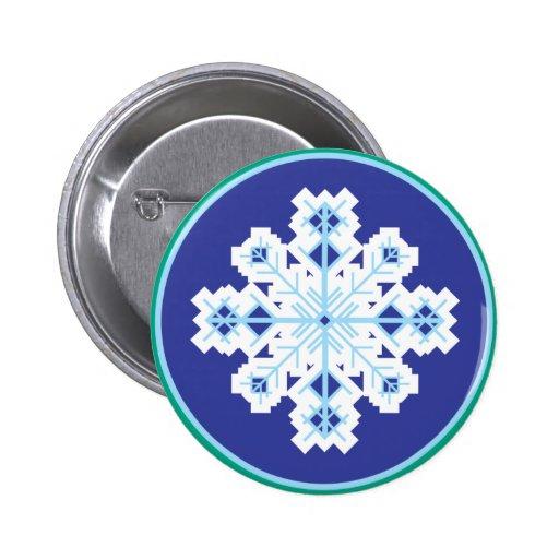 copo de nieve cristalino pin