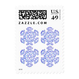 Copo de nieve - cuadro del public domain sellos