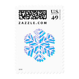 Copo de nieve - cuadro del public domain franqueo