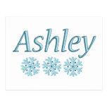 Copo de nieve de Ashley Postales
