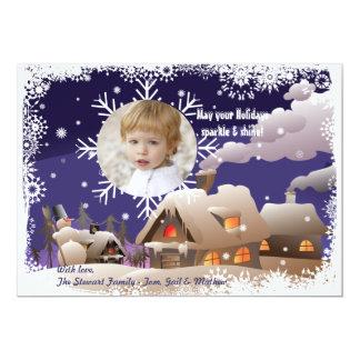 """Copo de nieve de deriva - tarjeta del día de invitación 5"""" x 7"""""""