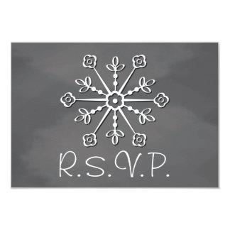 """Copo de nieve de la pizarra que casa la tarjeta de invitación 3.5"""" x 5"""""""
