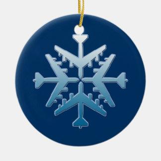 Copo de nieve de los aviones B-52 Ornaments Para Arbol De Navidad
