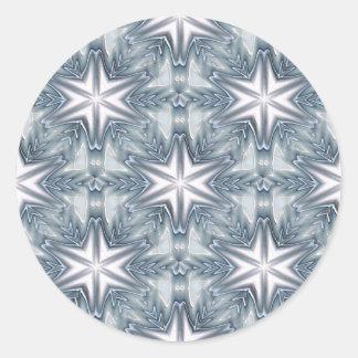 Copo de nieve de los azules claros pegatina