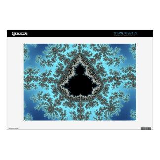 Copo de nieve de Mandelbrot - diseño del fractal Calcomanía Para 33cm Portátil