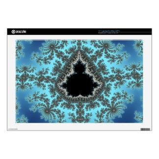 Copo de nieve de Mandelbrot - diseño del fractal Calcomanía Para Portátil