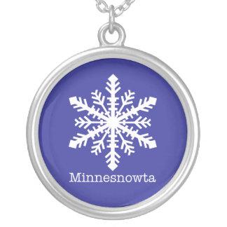 Copo de nieve de Minnesnowta Colgante Redondo