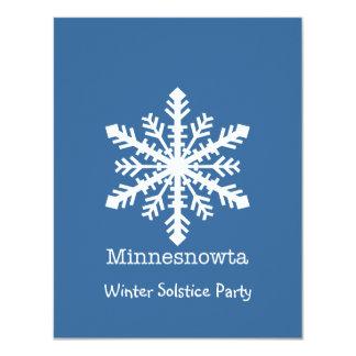 """Copo de nieve de Minnesnowta Invitación 4.25"""" X 5.5"""""""