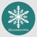 Copo de nieve de Minnesnowta Pegatinas Redondas