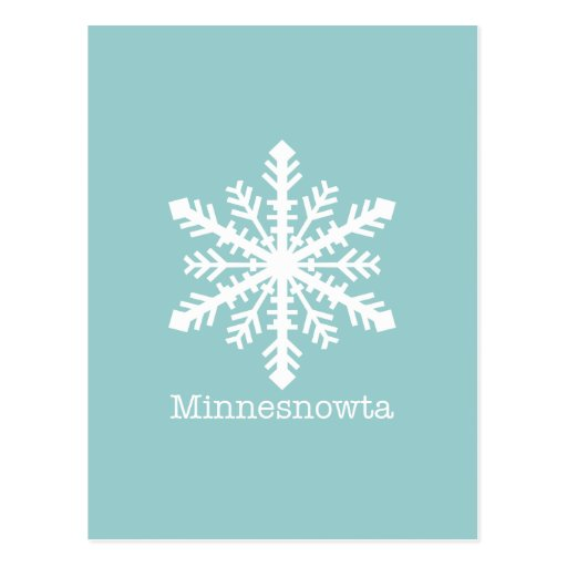 Copo de nieve de Minnesnowta Postal