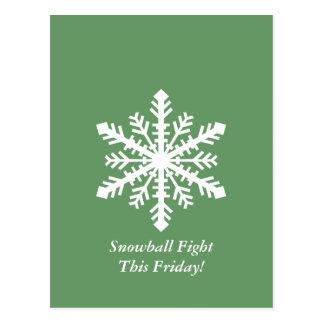 Copo de nieve de Minnesnowta Postales